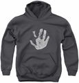 Lord of the Rings youth teen hoodie White Hand charcoal