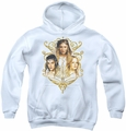 Lord of the Rings youth teen hoodie Women Of Middle Earth white