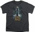 Lord of the Rings youth teen t-shirt Always Watching Charcoal