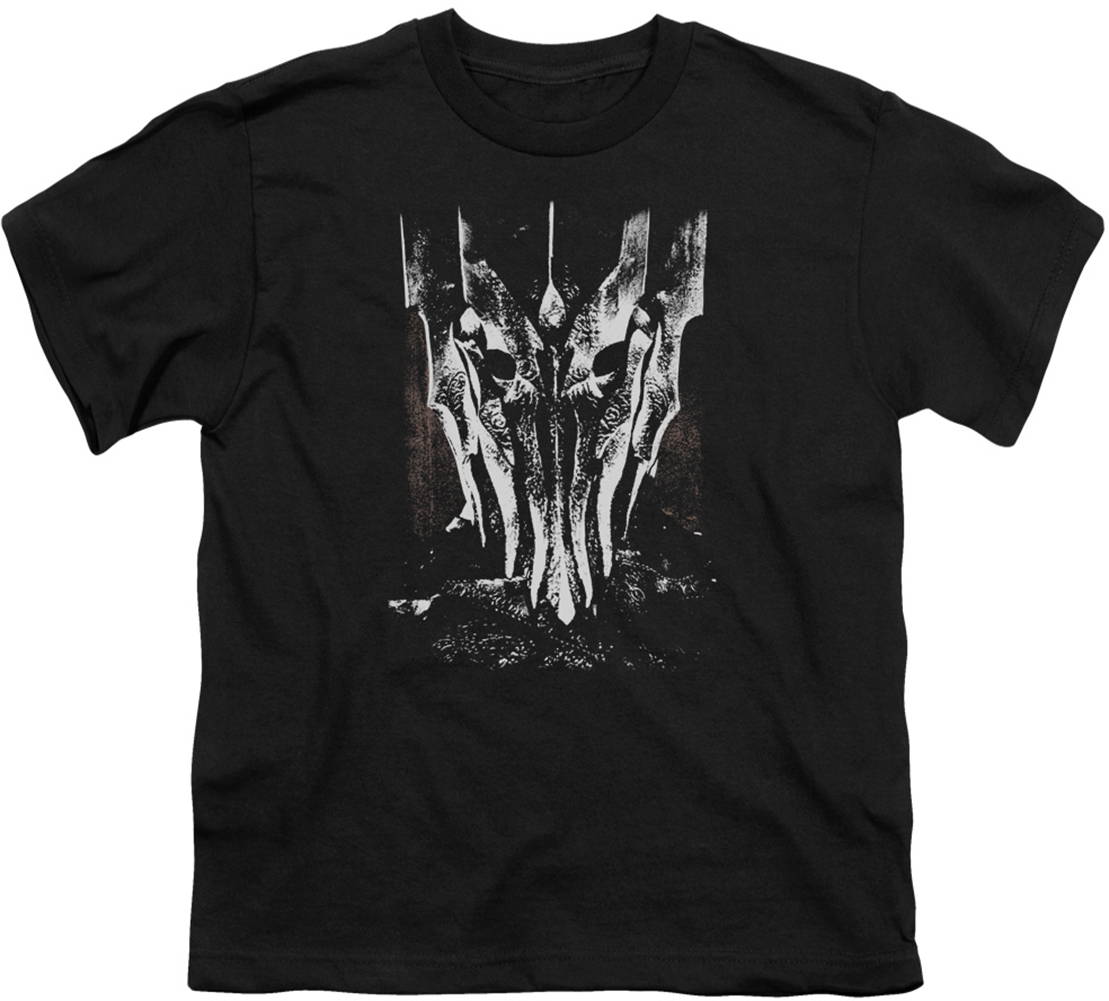 Lord Of The Rings Youth Teen T Shirt Big Sauron Head Black
