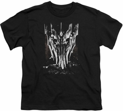 Lord of the Rings youth teen t-shirt Big Sauron Head Black