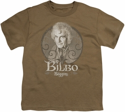 Lord of the Rings youth teen t-shirt Bilbo Baggins Safari Green