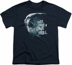 Lord of the Rings youth teen t-shirt Cave Troll Navy