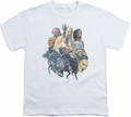 Lord of the Rings youth teen t-shirt Collage Of Evil White