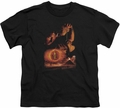 Lord of the Rings youth teen t-shirt Destroy The Ring Black