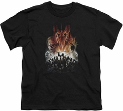 Lord of the Rings youth teen t-shirt Evil Rising Black