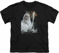 Lord of the Rings youth teen t-shirt Gandalf Black