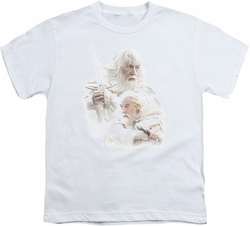 Lord of the Rings youth teen t-shirt Gandalf The White White