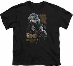 Lord of the Rings youth teen t-shirt Gimli Black