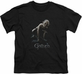 Lord of the Rings youth teen t-shirt Gollum Black