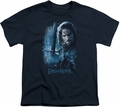 Lord of the Rings youth teen t-shirt King In The Making Navy