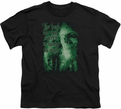 Lord of the Rings youth teen t-shirt King Of The Dead Black