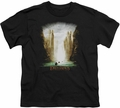 Lord of the Rings youth teen t-shirt Kings Of Old Black