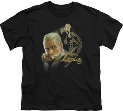 Lord of the Rings youth teen t-shirt Legolas Black