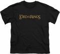 Lord of the Rings youth teen t-shirt LOTR Logo Black