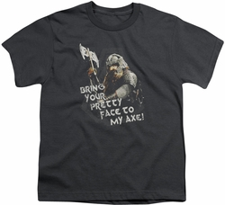 Lord of the Rings youth teen t-shirt Pretty Face Charcoal