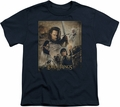 Lord of the Rings youth teen t-shirt Return of the King Poster Black