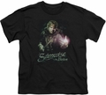 Lord of the Rings youth teen t-shirt Samwise The Brave Black