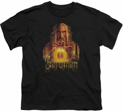 Lord of the Rings youth teen t-shirt Saruman Black