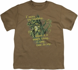 Lord of the Rings youth teen t-shirt Slow Talker Safari Green