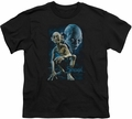 Lord of the Rings youth teen t-shirt Smeagol Black