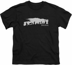 Lord of the Rings youth teen t-shirt The Fellowship Black
