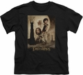 Lord of the Rings youth teen t-shirt Two Towers Poster Black