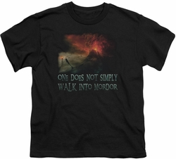 Lord of the Rings youth teen t-shirt Walk In Mordor Black