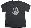 Lord of the Rings youth teen t-shirt White Hand Charcoal