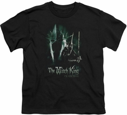 Lord of the Rings youth teen t-shirt Witch King Black