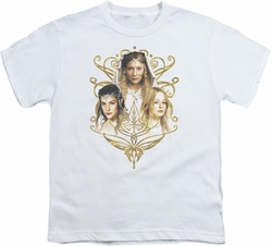 Lord of the Rings youth teen t-shirt Women Of Middle Earth White