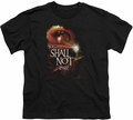 Lord of the Rings youth teen t-shirt You Shall Not Pass Black