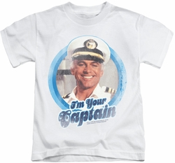 Love Boat kids t-shirt I'm Your Captain white