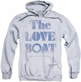 Love Boat pull-over hoodie Distressed adult athletic heather