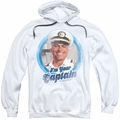 Love Boat pull-over hoodie I'm Your Captain adult white