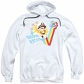 Love Boat pull-over hoodie Welcome Aboard adult white