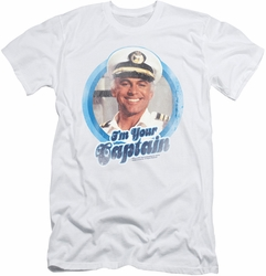Love Boat slim-fit t-shirt I'm Your Captain mens white