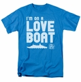 Love Boat t-shirt I'm On A mens turquoise