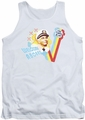 Love Boat tank top Welcome Aboard mens white