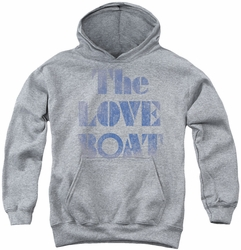 Love Boat youth teen hoodie Distressed athletic heather
