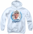 Love Boat youth teen hoodie I'M Your Captain white