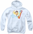 Love Boat youth teen hoodie Welcome Aboard white