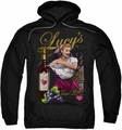 Lucille Ball Lucy pull-over hoodie Bitter Grapes adult black
