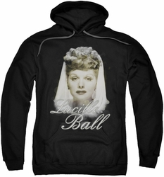 Lucille Ball Lucy pull-over hoodie Glowing adult black