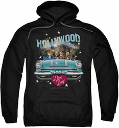 Lucille Ball Lucy pull-over hoodie Hollywood Road Trip adult black