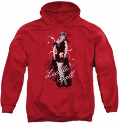 Lucille Ball pull-over hoodie Signature Look adult red