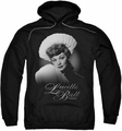Lucille Ball Lucy pull-over hoodie Soft Portrait adult black