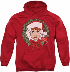 Lucille Ball pull-over hoodie Wreath adult red