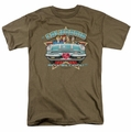Lucille Ball Lucy t-shirt California Here We Come mens safari green