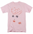 Lucille Ball Lucy t-shirt Eyelashes mens pink